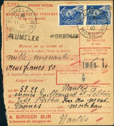 Mandat pour CCp 1940 recto